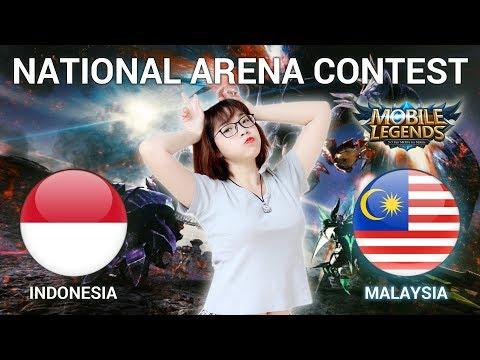 INDO VS MALAYSIA - GIVE AWAY TINGGAL LI KE & SUBS - National Arena Contest Cast by Kimi Hime