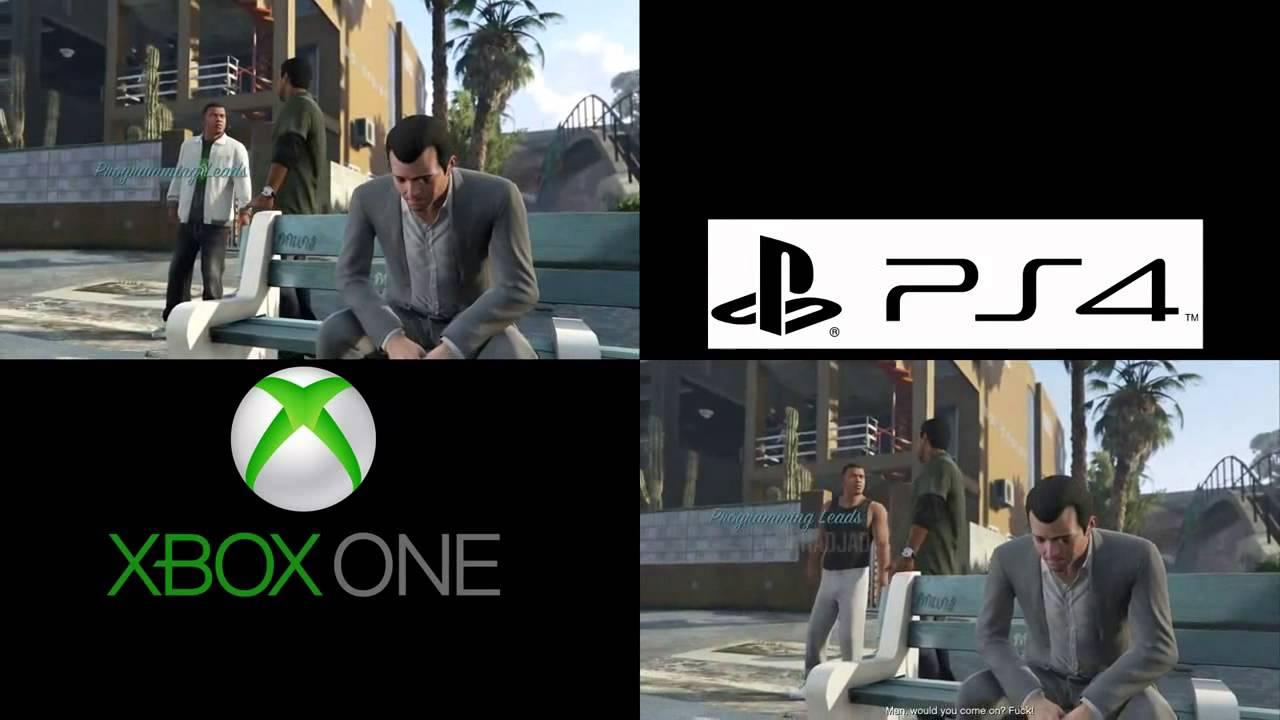 GTA 5 XBOX ONE VS PS4 GRAPHICS COMPARISON HD GTA V - YouTubeXbox One Vs Ps4 Graphics
