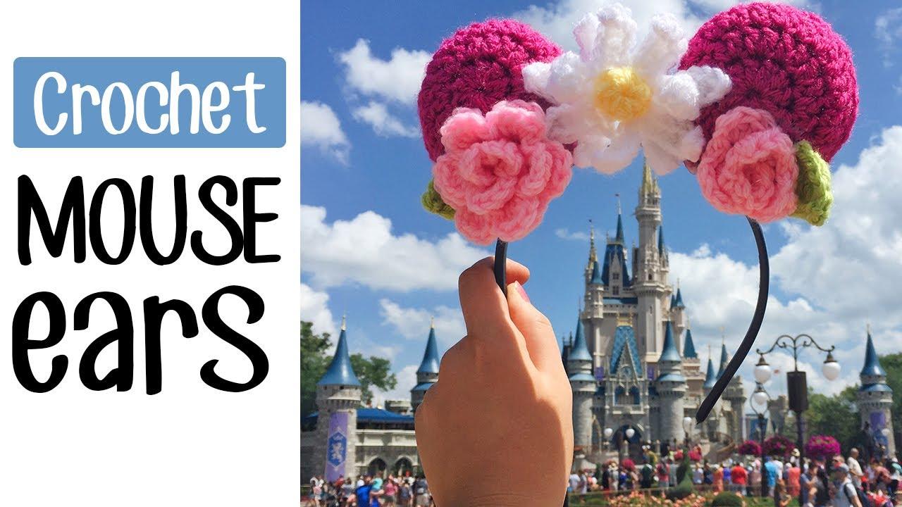 Crochet Floral Mouse Ears For Disney World Youtube