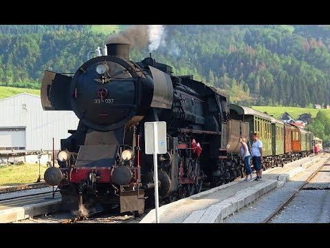 Steam in Slovenia – Nova Gorica to Jesenice – cab, passenger and forward views