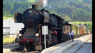 Steam in Slovenia – Nova Gorica to Jesenice – cab, passenger and forward views