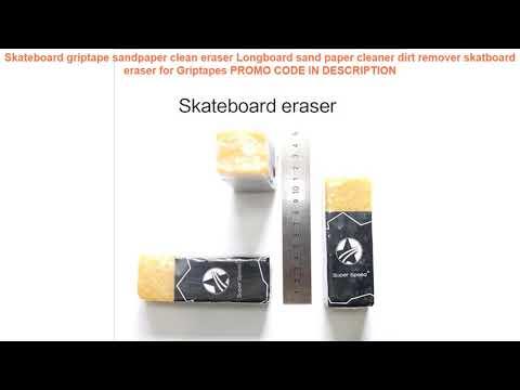 Cheap Skateboard griptape sandpaper clean eraser Longboard sand paper cleaner dirt remover skatboar