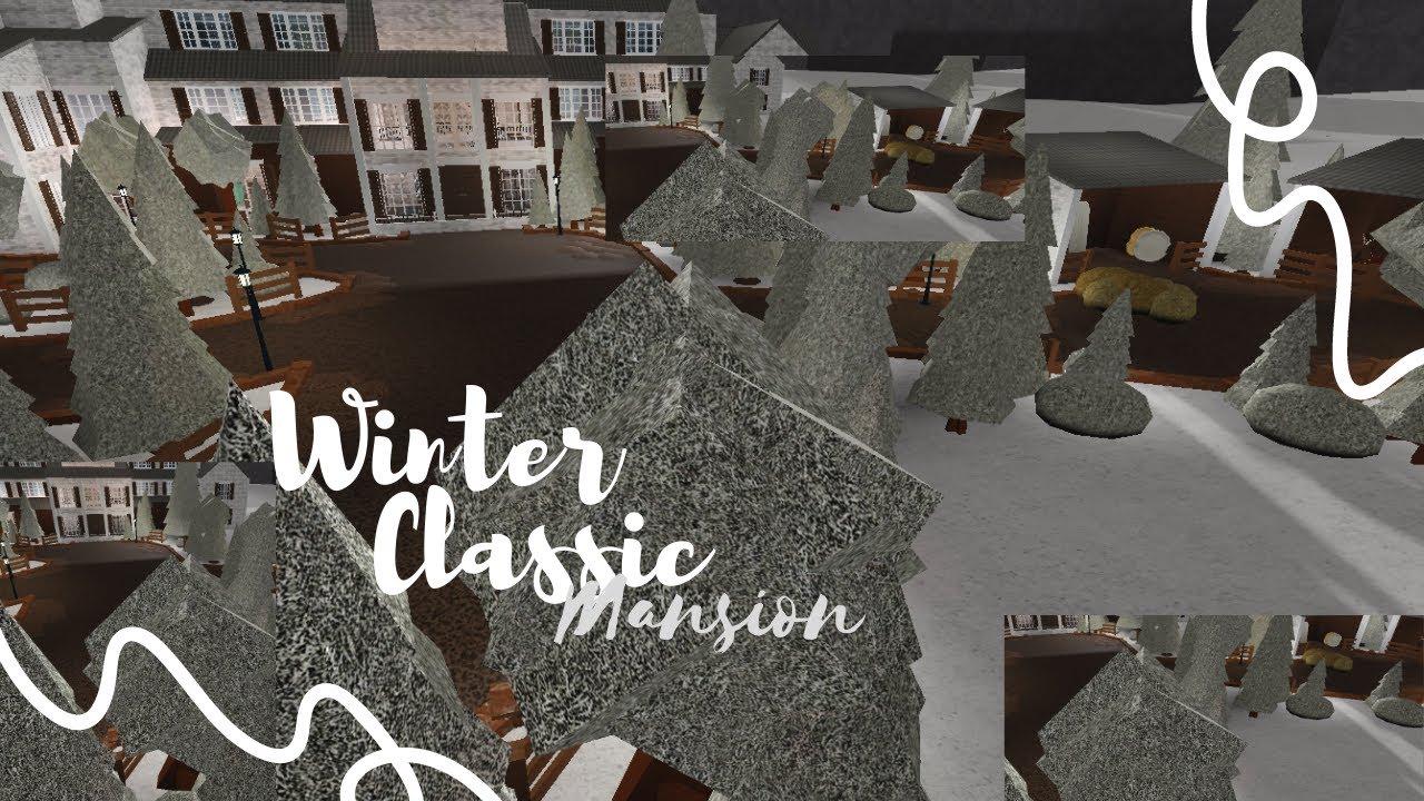 Download Bloxburg: Winter Rustic Mansion exterior (120k)