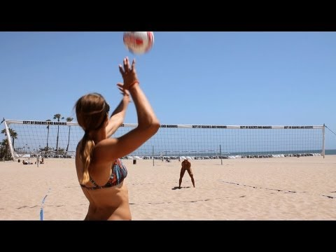 How to Float Serve   Volleyball Lessons