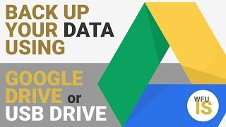 Back up and transfer your data using Google Drive or a USB External Drive