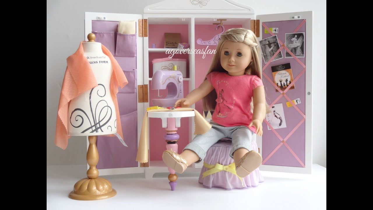 Setting Up American Girl Doll Isabelle\'s Studio - YouTube