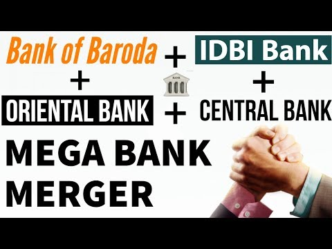 Mega Bank Merger by Modi Government - BOB + IDBI + OBC + CBI - Current Affairs 2018