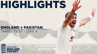 Day 4 Highlights | James Anderson Takes 599th Test Wicket | England v Pakistan 3rd Test 2020