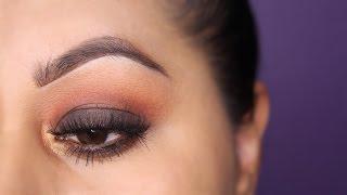summer brown smoke eye look