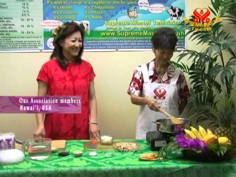Festive Hawaiian Vegan Chicken Crystal Long Rice