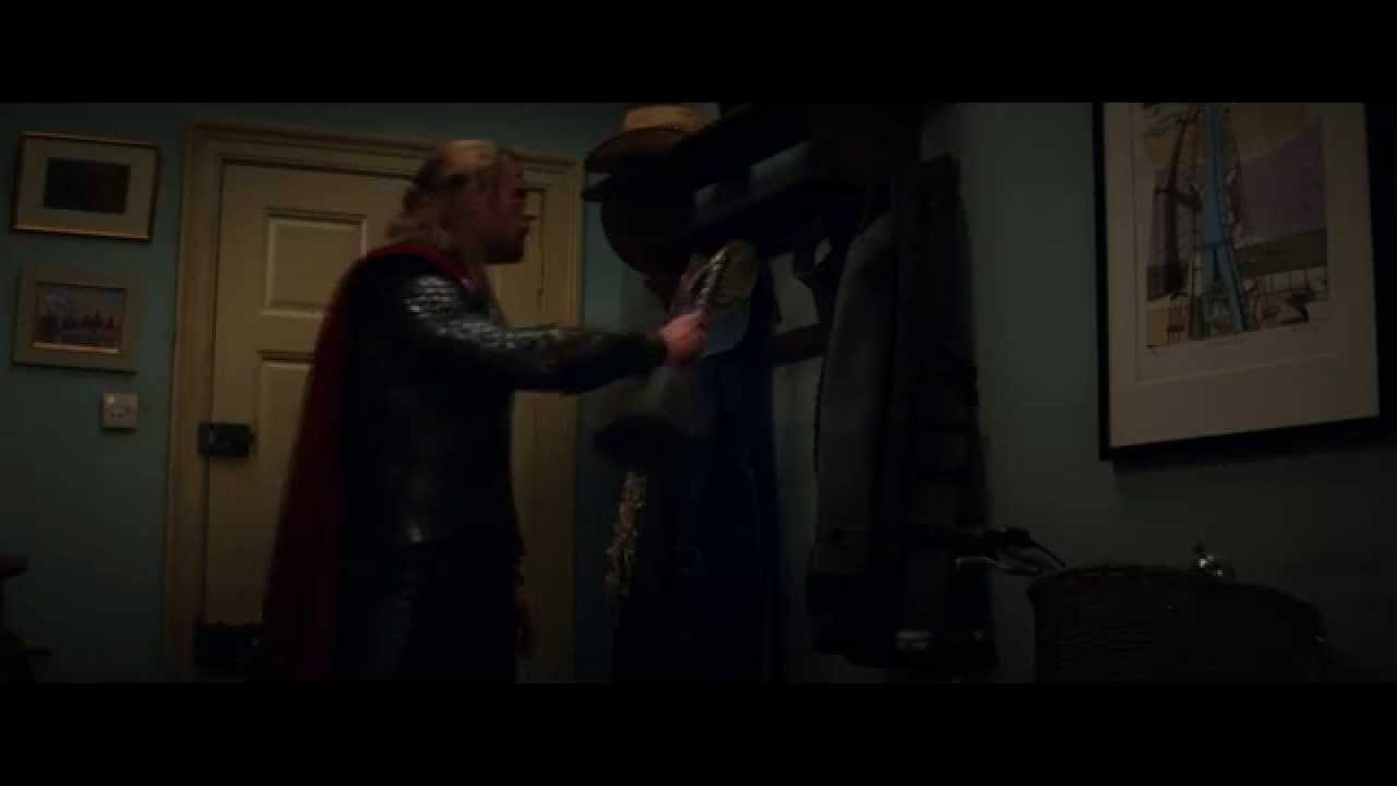 Thor Hangs His Hammer On Coat Rack Youtube
