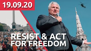 ROBIN TILBROOK - RESIST & ACT FOR FREEDOM - 19.09.2020 at London Trafalgar Square - PART 6