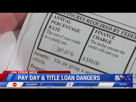 Pay Day And Title Loan Dangers