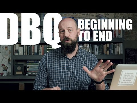 How to Write a DBQ for APUSH from BEGINNING TO END (watch me write it)
