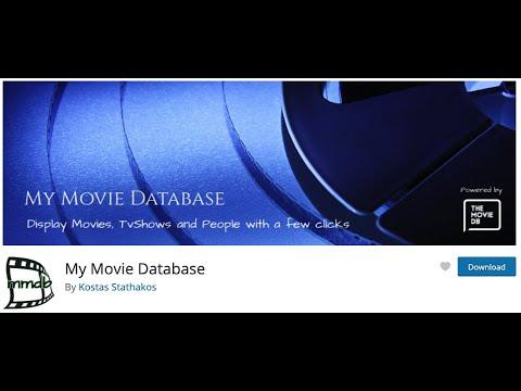 ✅ MY MOVIE DATABASE ➡️ Importa info automática de Actores, Películas y Series WORDPRESS