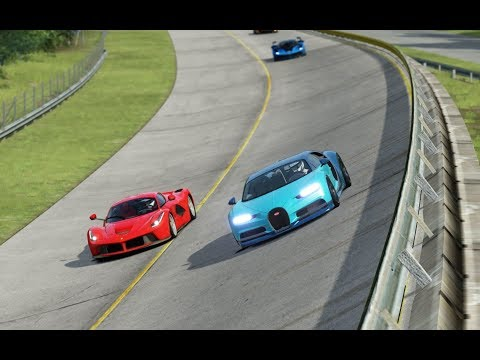 Bugatti Chiron vs McLaren P1 vs Ferrari LaFerrari vs Ferrari FXX-K at Monza Full Course 1966