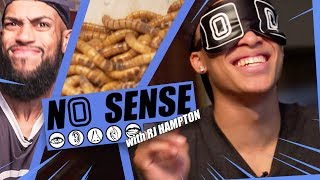 RJ Hampton Eats WORMS!?!? Overtime Larry Makes Him RAP & Go Through GROSS TEST 🗣