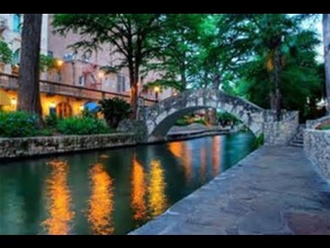 San Antonio Texas The Riverwalk And The Tower of Americas
