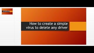 كيفية إنشاء فيروس بسيط لحذف كل الملفات من محرك الأقراص c.