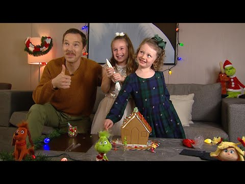 Watch Benedict Cumberbatch Decorate a Gingerbread House With ET\'s Kid Reporters!