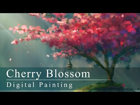 Digital Painting | Cherry Blossom (with annotations!)