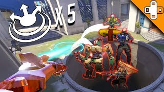 1 BUTTON = 5 KILLS! Overwatch Funny & Epic Moments 451