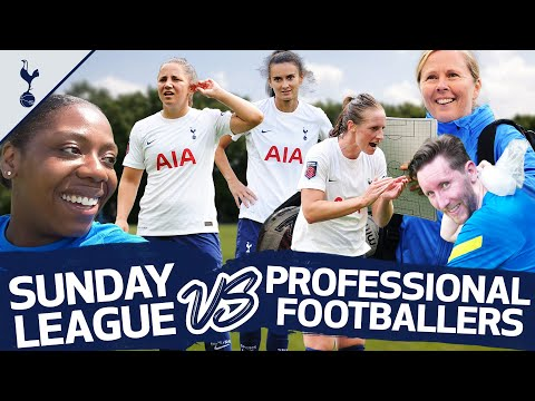 Two SUNDAY LEAGUE players joined a Spurs Women training session and the difference was HUGE!