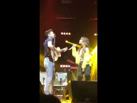 Niall Horan and Maren Morris during Seeing Blind - Auckland Concert.