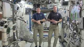 Space Station astronauts talk with ABC News