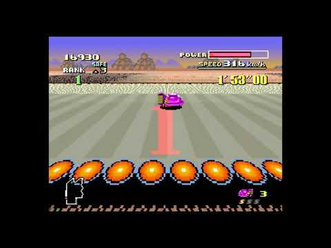 """F-Zero SNES Time Attack: Red Canyon 1 fast lap (19""""88) on Wii U (4K)"""