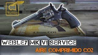 REVÓLVER WEBLEY MK VI SERVICE de aire comprimido acabado plateado