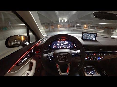2017 Audi Q7 2.0t Premium Plus - POV Night Drive (Binaural Audio)