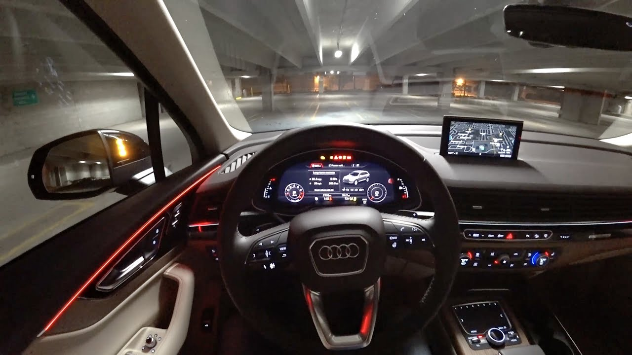 2017 Audi Q7 20t Premium Plus POV Night Drive Binaural
