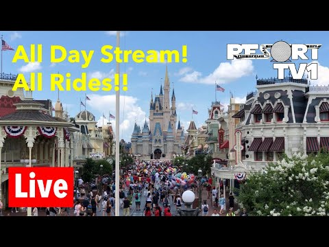 🔴 Live: Riding Every Ride at Disney's Magic Kingdom - All Day Live Stream!