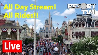 🔴 Live: Riding Every Ride at Disney's Magic Kingdom - All Day Live Stream!
