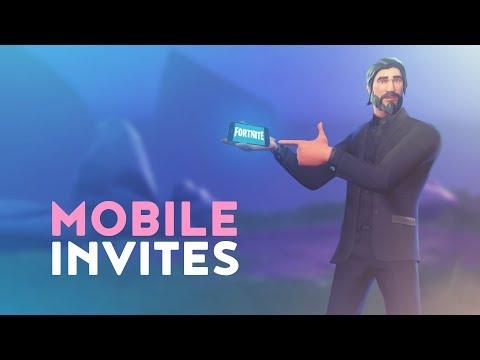 FORTNITE MOBILE INVITES! (Fortnite Battle Royale)