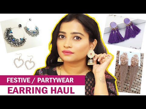 Meesho Earrings Shopping Haul - Unique, Attractive, Partywear & Everyday Earrings