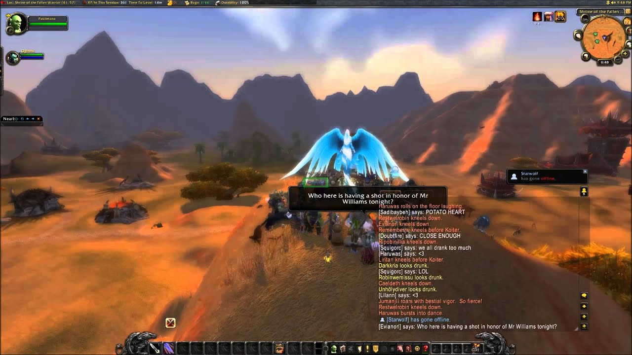 World of Warcraft Send off to Robin Williams YouTube