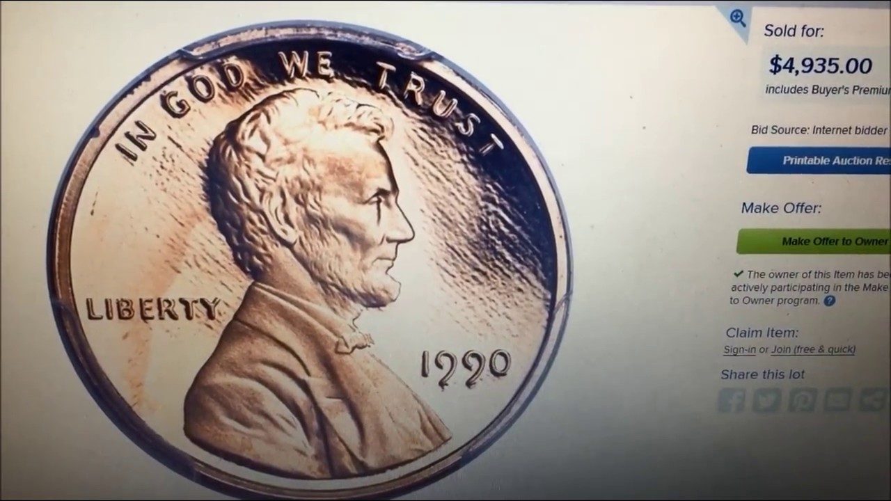 1990 LINCOLN PENNY SELLS FOR $4935!! WHY!!??