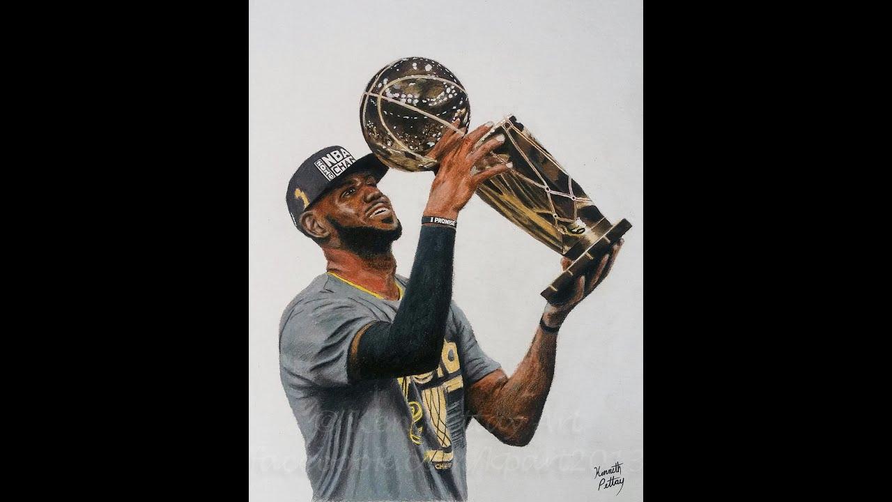 Photorealistic LeBron James Drawing - YouTube