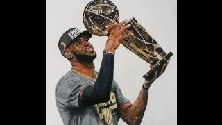Photorealistic LeBron James Drawing