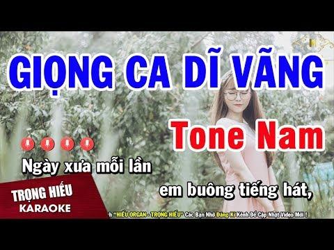 Karaoke Giọng Ca Dĩ Vãng Tone Nam Nhạc Sống Âm Thanh Chuẩn | Trọng Hiếu