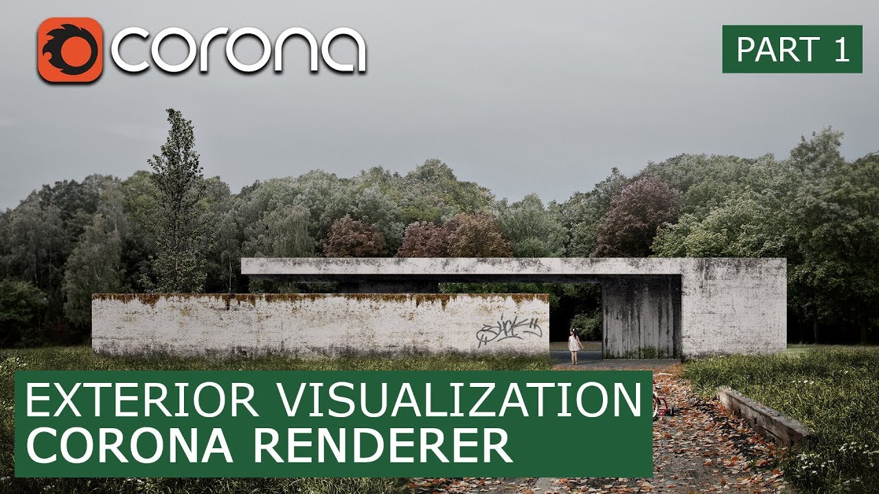 Exterior Corona Render 1 6 Photo Matte Painting Architectural Visualization