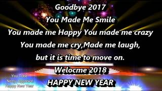 Happy New Year Wishes Goodbye 2017 Welcome 2018 Animated Greetings Sms Quotes Sayings Whatsapp