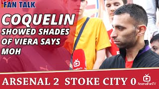 Francis Coquelin Showed Shades Of Viera says Moh   Arsenal 2 Stoke 0