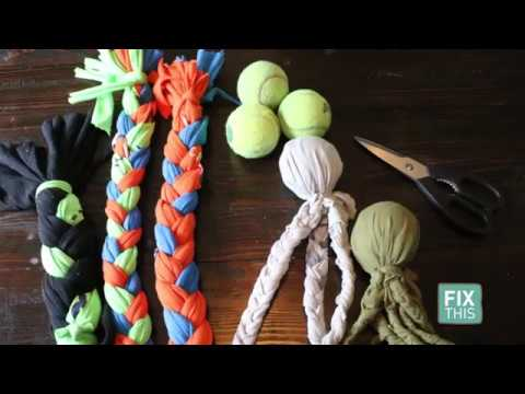 4b8608da Fix This: Make your dog a new toy using old t-shirts! - YouTube