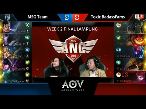 MSG Team vs Toxic BadassFams - Garena AOV ANC City Qualifiers : Week 2 Final Lampung Game 1