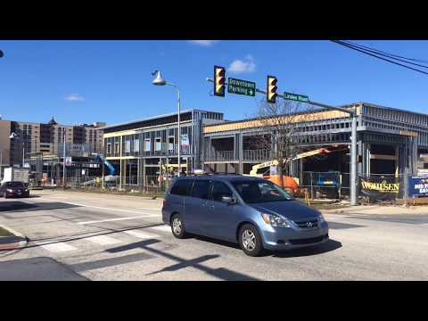Hershey Towne Square, home to Iron Hill Brewery & Restaurant and Primanti Bros., rising in Hershey