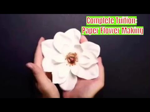 DIY HANDICRAFT: Complete Tuition For Paper Flower Making|Video Tuition How to Make Paper Flowers