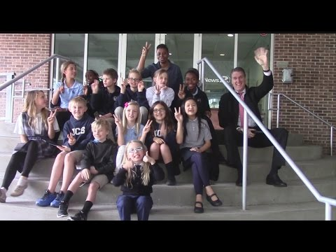 James Island Christian School visits Rob Fowler at News2 for Weather 101